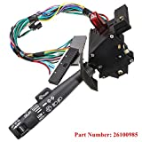 Multi-Function Combination Switch - Turn Signal, Wiper, Washers, Hazard Switch, Cruise Control - Replaces Part # 2330814, 26100985 26036312 - Fits Chevy Tahoe, Blazer, Suburban, K1500, Sierra