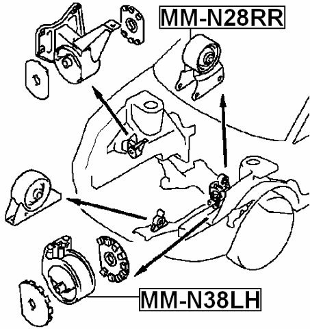 Amazon Com Left Engine Mount Hydro Febest Mm N38lh Oem Mb948000