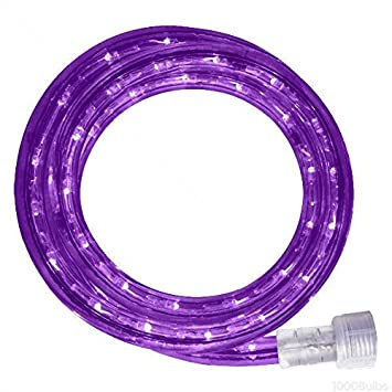 Amazon incandescent 18 ft rope light purple 120 volt rope light purple 120 volt 150 ft aloadofball Choice Image