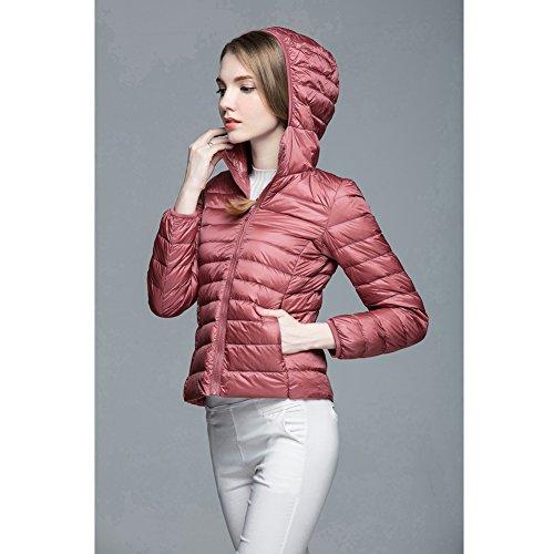 Short Coat Lightweight Puffer Jacket Women's Pink Down Ultra 1 Hooded Z0fqEw
