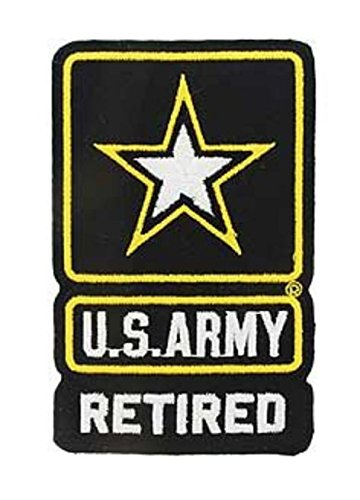 Army Retired Iron On Patch 4