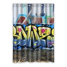 Doubb custom Wall grafitti polyester Room Window Curtain 132cm x 182cm(one piece)