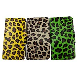 Zaki- The Beauty of The Leopard Pattern PU Leather Full Body Case with Stand for iPhone 4/4S(Assorted Colors) , Coffee