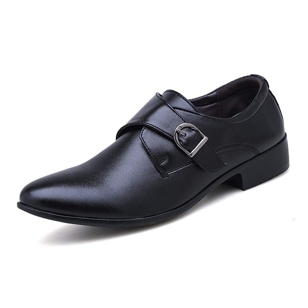pour Robe de Mariage JIADUOBAOSEN Mocassins en Cuir Microfibre pour Homme Chaussures Classiques /à Bout Pointu Antid/érapants et /étanches Boucle Plate