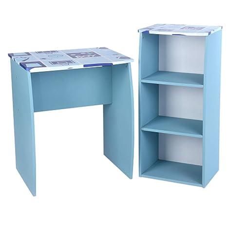 BAKAJI Home Set Scrivania e Libreria in Legno, MDF, 60 x 50 x 73 cm ...