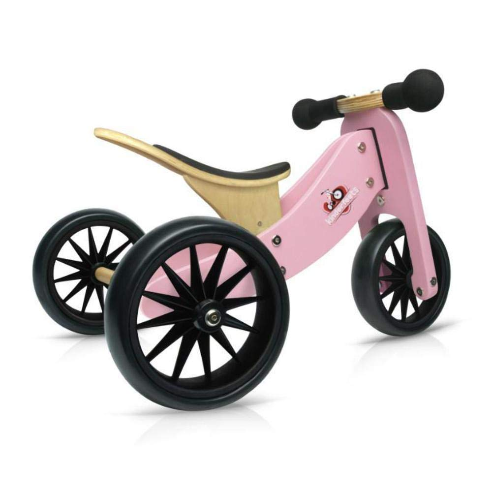 Kinderfeets Tiny Tot Blue Wooden Balance Bike/Tricycle Pro-Motion Distributing - Direct KDF12.11