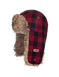 Trespass Kids Boys Corban Check Winter Trapper Hat