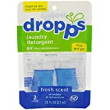 Dropps Laundry Detergent Pacs, Fresh Scent, 2 Count
