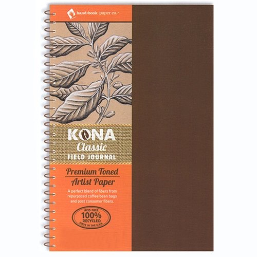 Global Art Materials Kona Classic Toned Artist Paper Field Series Journal Hand Book, 8 by 8-Inch (Wirebound Recycled Art Journal)