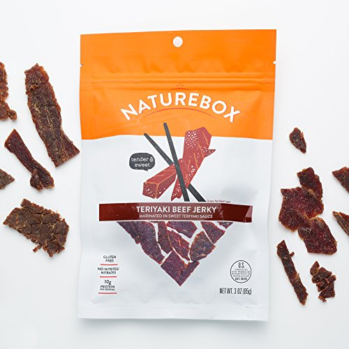 NatureBox Turkey Jerky Snack Packs Single Serve Bags (10 bags X 1.5 oz) - Hickory Smoked, All Natural…