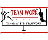 National Marker BT524 Teamwork There Is No ''I'' In Teamwork Banner