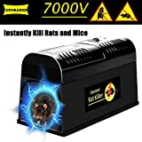 Swiser Electronic Rat Trap - Powerful Mouse Rodent Trap Killer -Eliminate Mice, Rats, Chipmunks and Squirrels Zapper, Efficiently and Safely Without Poison - Pest Control Infestation Solution …