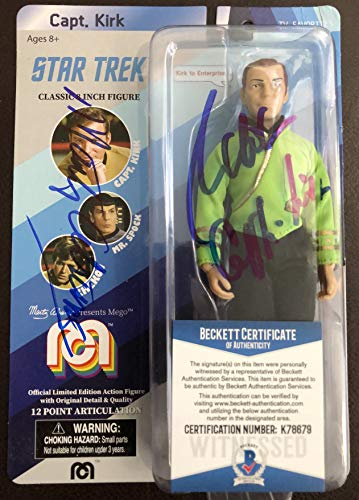 Star Trek Captain Kirk 8 inch Limited Edition Action Figure signed by William Shatner and Marty Abrams w/Beckett COA (Mego Star Trek Kirk)