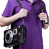 Frisby FS-4150P Bluetooth Karaoke Hi-Fi PA Portable Rechargeable Multimedia Speaker System w/ Wired & Wireless Microphone, FM Radio, USB & SD Slots for Events, Parties & Large Groups