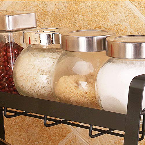 YIZH 3-Tier Spice Rack Spice Can Jars Bottle,Holder Storage,Organiser Shelf Rack Pantry Cabinet Counter Top Or Free Standing- For Spice Jar Bottle And More
