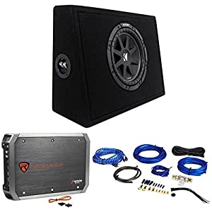"KICKER 43TC104 Comp 10"" Subwoofer In Sub Box Enclosure+2-Ch. Amplifier+Amp Kit"