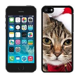 New Design Christmas Decoration Kitten Black Plastic Iphone 5c,Apple Iphone 5c Cover Case