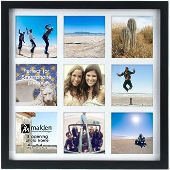 malden international designs smartphone collection black wood collage picture frame9 option 9