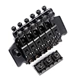 Kmise Electric Guitar Tremolo Bridge System For Floyd Rose Parts Replacement 1 Set (Black)