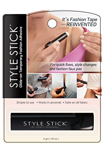 Style Stick Glide-On Temporary Fashion Adhesive - 1 Pack Tube: IT'S FASHION TAPE REINVENTED. For quick fixes, styles changes, and fashion faux pas