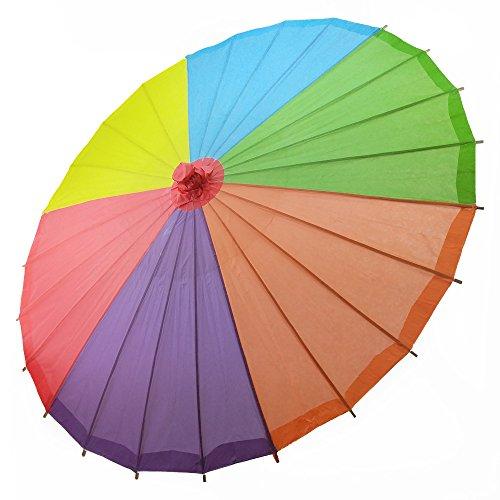 Quasimoon Rainbow Multi Color Umbrella PaperLanternStore