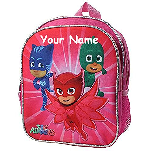 Personalized PJ Masks Mini Backpack Book Bag - 10 Inches (Personalized Girl Backpacks)