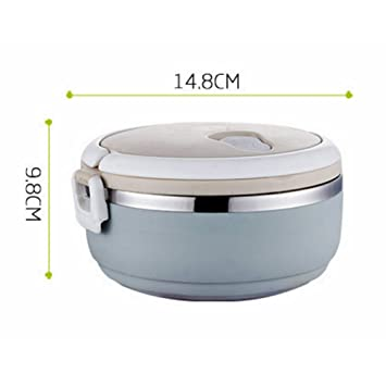 Student Lunch Box Isotherme Inox 304 ronde Lunch Box Boîte à goûter (simple) ce941984d70b