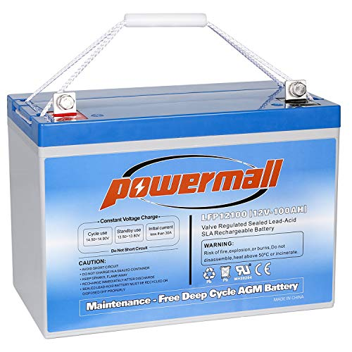 Powermall 12V 100AH Solar Battery Deep Cycle AGM For Off