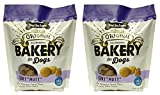 Three Dog Bakery Mutt Assortment Oats Applesauce Peanut & Vanilla Flavor Cookies (1 Pack), 2 lb (2-Pack)