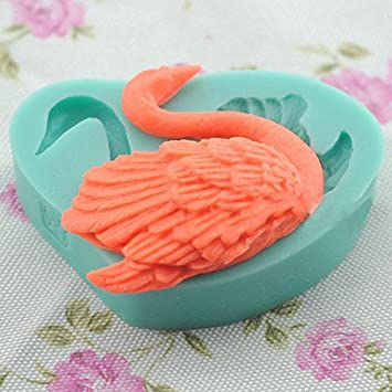 Amazon.com : 3D Silicone Mold Swan Fondant Mould For Candy Chocolate Cake BML Brand // Molde De Silicona De Silicona 3D Molde De Fondant De Cisne Para ...