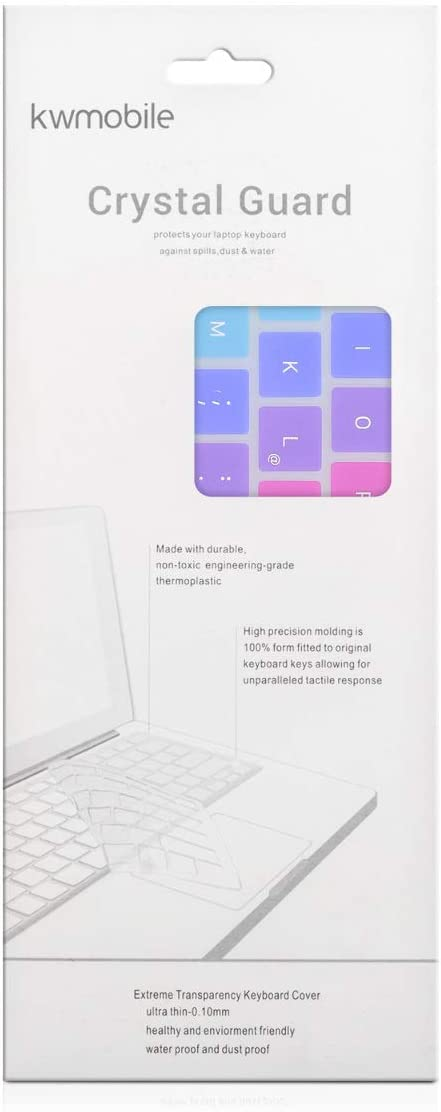 German QWERTZ Layout Keyboard Cover Silicone Skin kwmobile Keyboard Cover Compatible with Apple MacBook Air 13 Retina from end of 2018