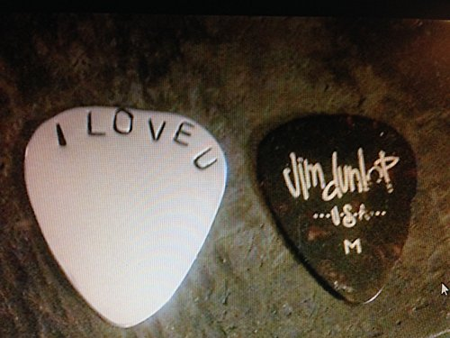 Personalized Guitar Pick,gold ,copper ,sterling silver For Him, Metal Guitar Pick, Engraved For Him, Boyfriend Gift, Hand stamped Guitar Pick - by Custom jewelry