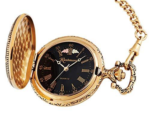 Black Hills Gold Men's Black Face Pocket Watch