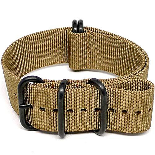 DaLuca Ballistic Nylon Military Watch Strap - Sand (PVD Buckle) : 24mm
