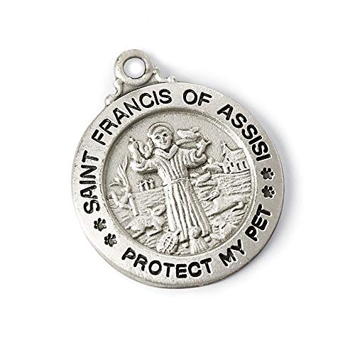Bits and Pieces - St. Francis of Assisi Medal - Protect Your Pet with This Embossed Charm