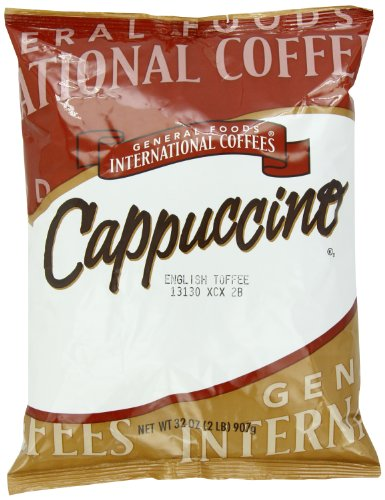 English Toffee Cappuccino - General Foods English Toffee Instant Coffee Mix (2 lbs Bags, Pack of 6)