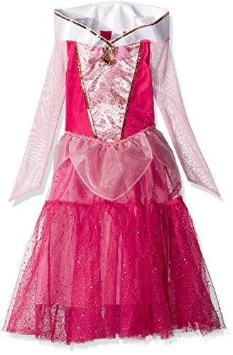 [Disguise Aurora Deluxe Disney Princess Sleeping Beauty Costume, Small/4-6X] (Maleficent Halloween Costumes For Girl)