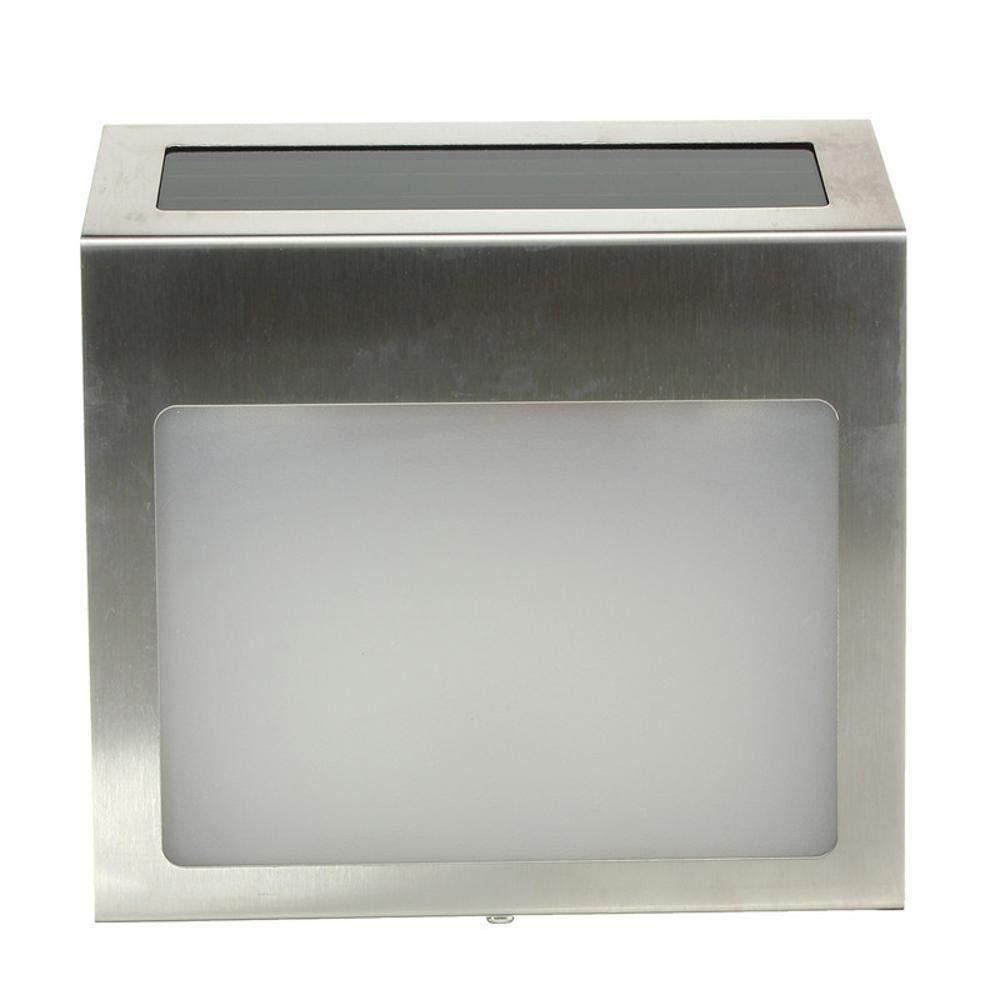 Hongge Lampade solari a LED da Esterno,Casa Solare 3LED Acciaio Inox Cortile Lampada Impermeabile Digitale casa Lampada da Parete
