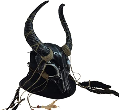 Halloween Mask for Adults Attitude Studio Skull Mask Medieval Viking Helmet