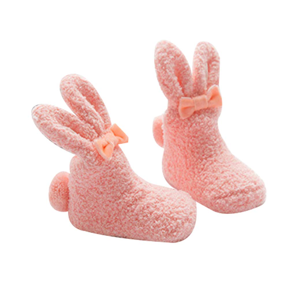 0-1 A/ños Calcetines para beb/é Sukisuki Lana Coral Blanco Forro Polar, Antideslizantes, Gruesos