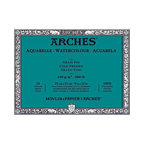Arches Block 300LB Cold Press 9X12 ()