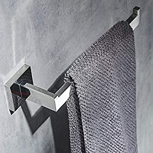 Towel Rail Polish Chrome,Towel Ring Wall Mounted,SUS 304Stainless Steel,Open-Arm Design Single Bar,Beelee,BA19905C