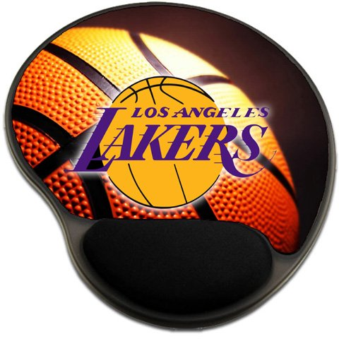 Lakers Basketball Mousepad Base with Wrist Support Mouse Pad Great Gift Idea Los Angeles