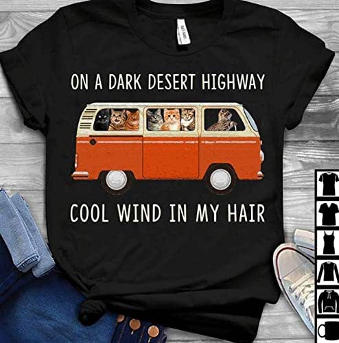Amazon.com: Cats on a dark desert highway cool wind T