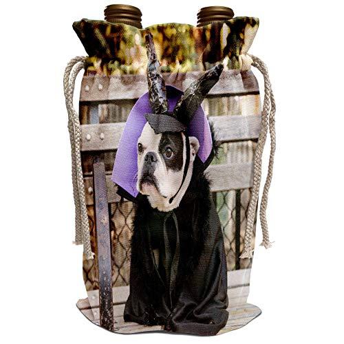 3dRose Danita Delimont - Halloween - New York City. Pet Halloween contest at Thompkins Square Park. - Wine Bag (wbg_231349_1)]()