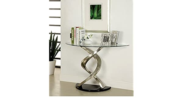 Amazon.com: Furniture Of America Kalliope Modern Sofa Table, Metallic Finish:  Kitchen U0026 Dining