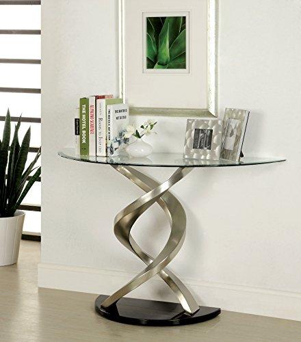 Furniture of America Kalliope Modern Sofa Table, Metallic (Metallic Modern Sofa)