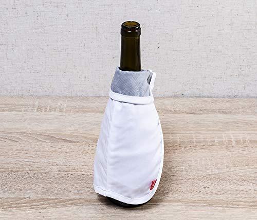 Vacuvin Capa para Garrafa de Vinho em Algodão, Branco, 27 X 15 X 11 Cm