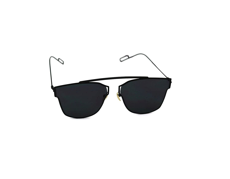 b662681e0fab0 Amazon.com  Bellofox Trendy Aviator Style Polarized Mirror Black Sunglasses  for Men   Women  Clothing