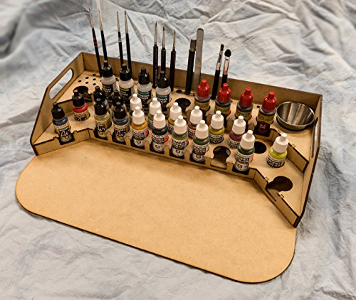 - GameCraft Miniatures Painting Station - 26mm V2, for Vallejo and Army Painter Style Dropper Bottles